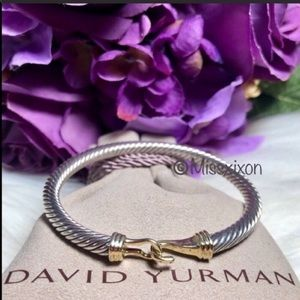 ❤️David Yurman Cable Buckle Bracelet with 14K Gold